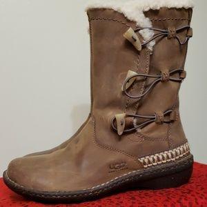 UGG Australia Women Kona Elastic Toggle Leather